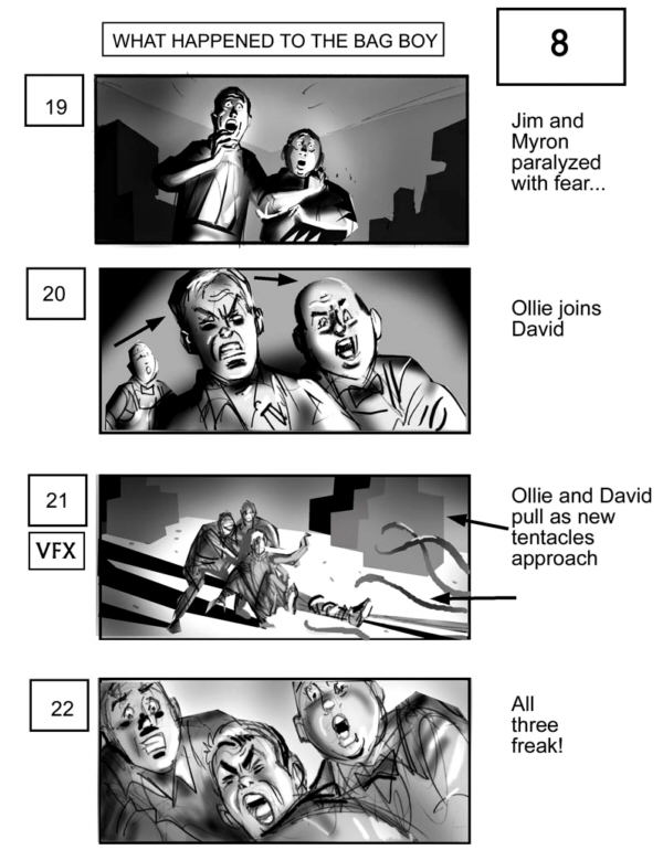 CLICK IMAGE FOR NEXT STORYBOARD FROM THE MIST